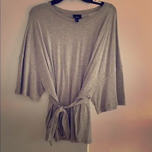 Grey Massimo front tiè t shirt slouch style